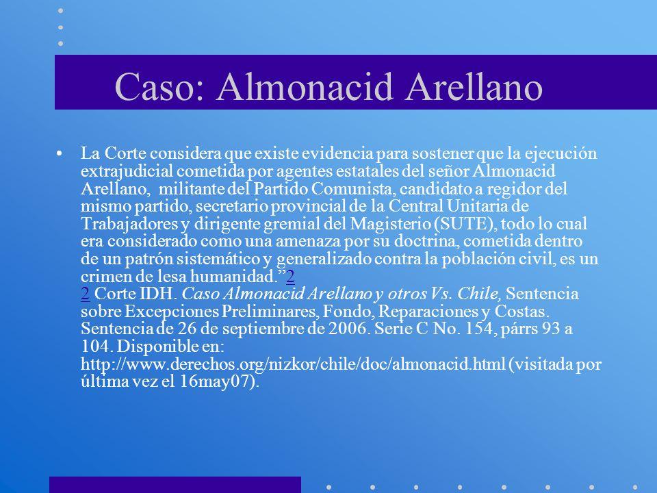 Caso: Almonacid Arellano