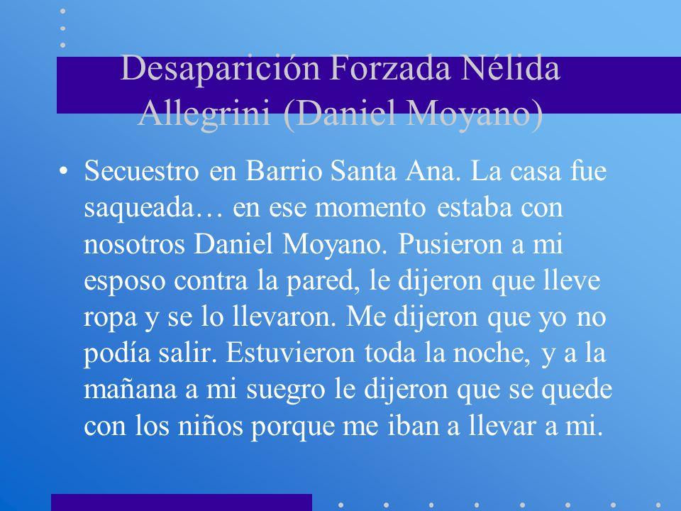 Desaparición Forzada Nélida Allegrini (Daniel Moyano)