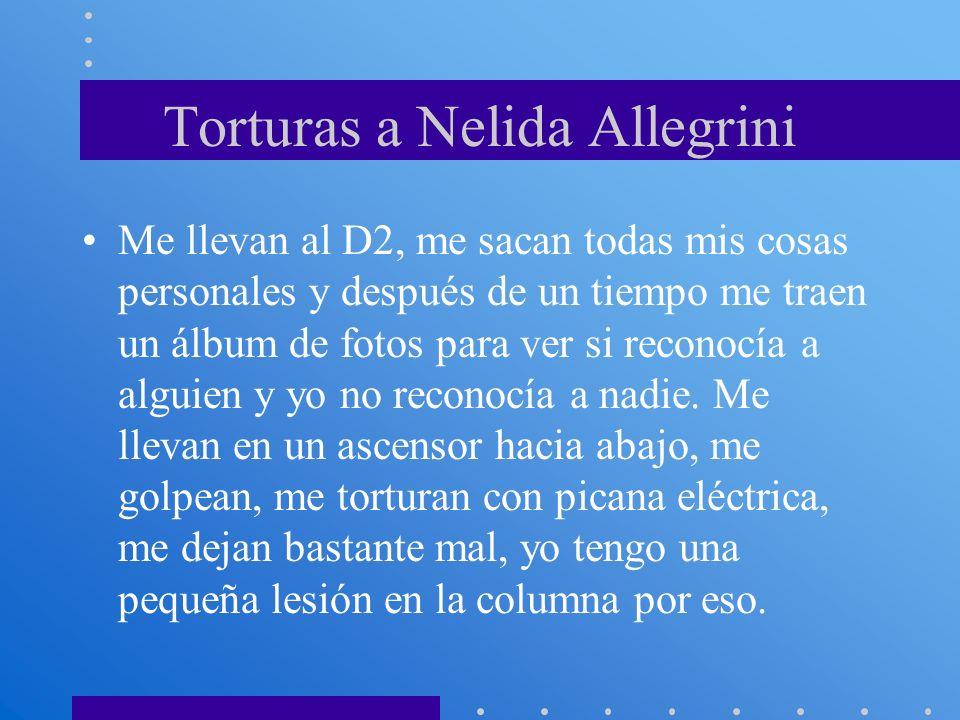 Torturas a Nelida Allegrini