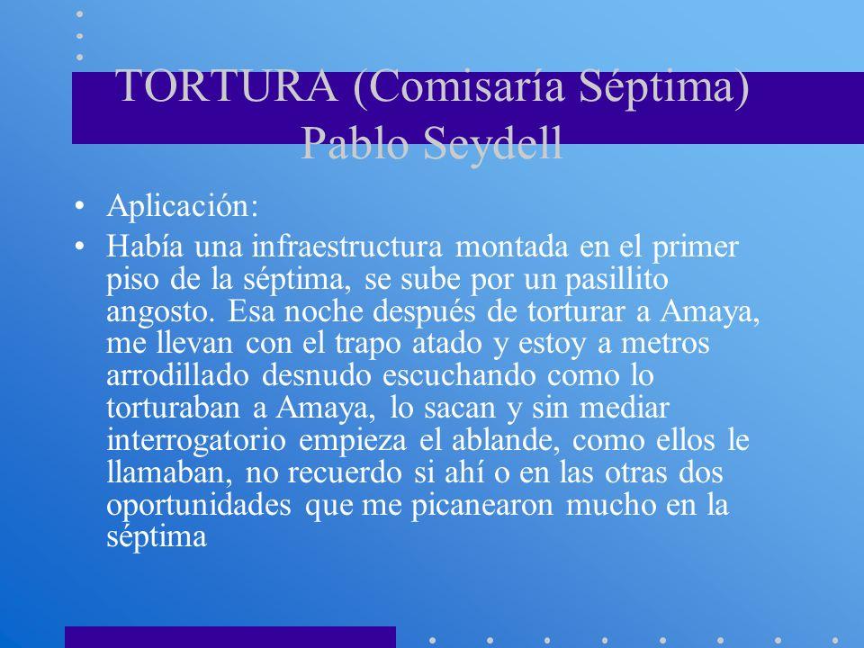 TORTURA (Comisaría Séptima) Pablo Seydell