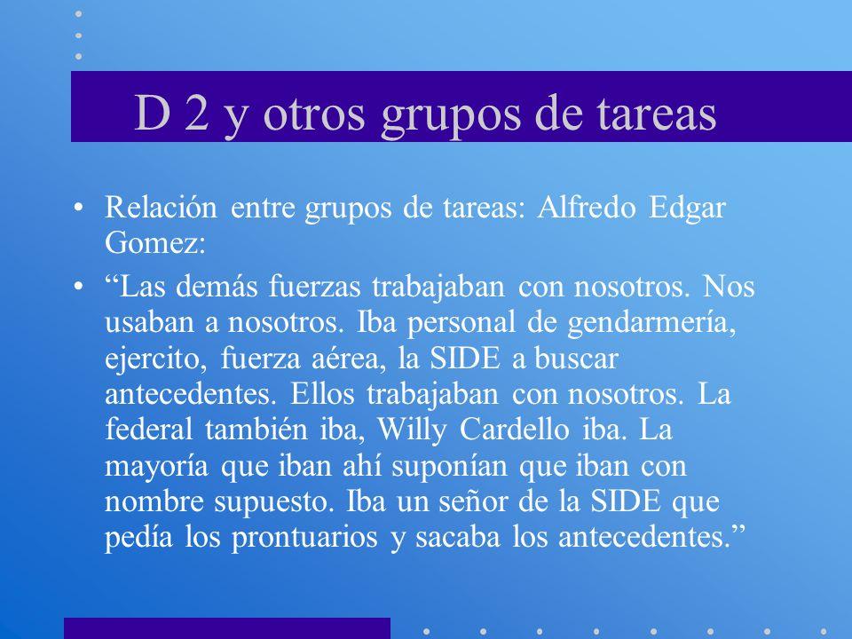 D 2 y otros grupos de tareas