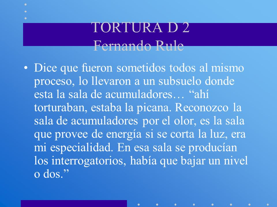 TORTURA D 2 Fernando Rule