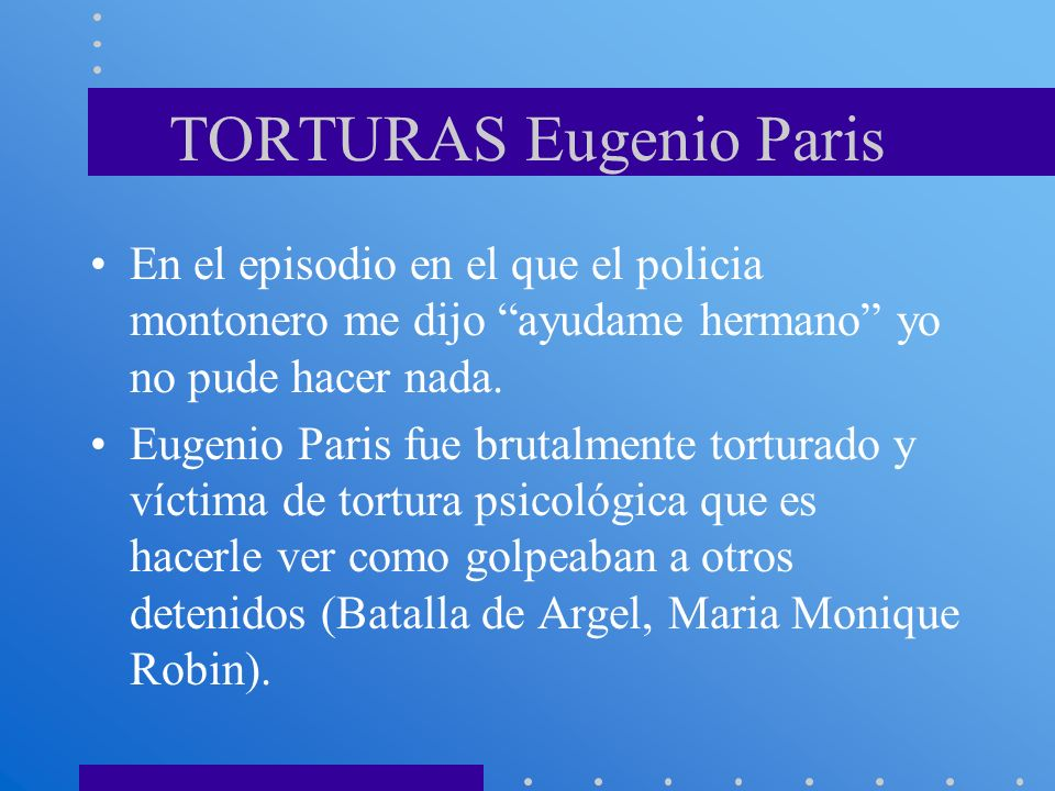 TORTURAS Eugenio Paris