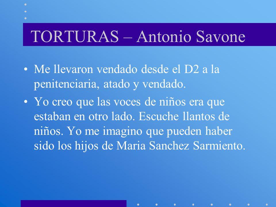 TORTURAS – Antonio Savone