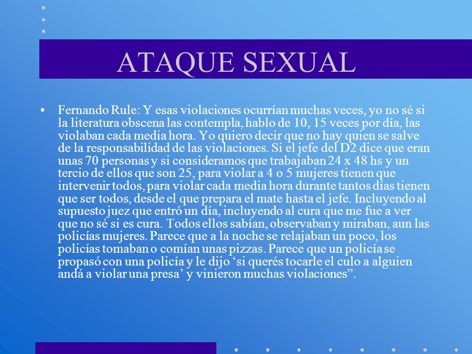 ATAQUE SEXUAL