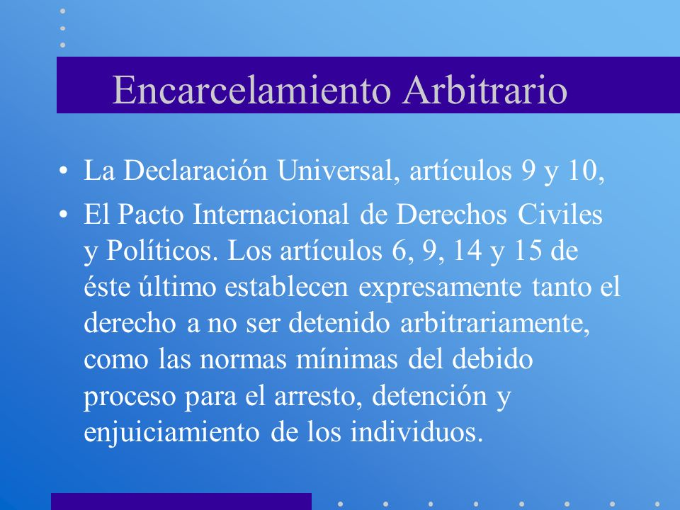 Encarcelamiento Arbitrario
