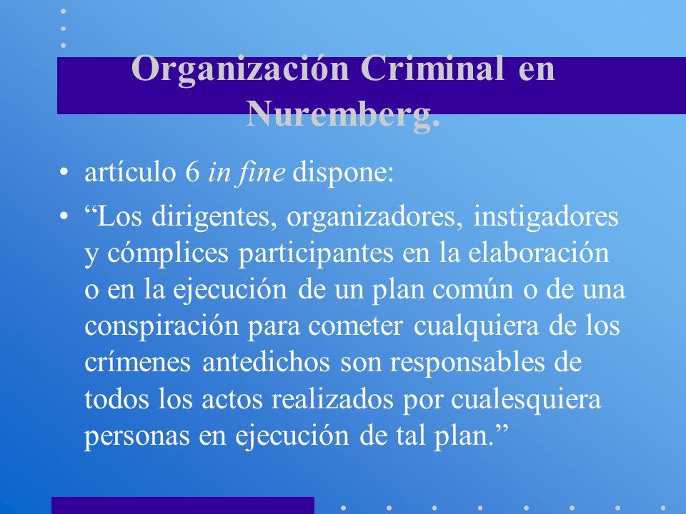 Organización Criminal en Nuremberg.