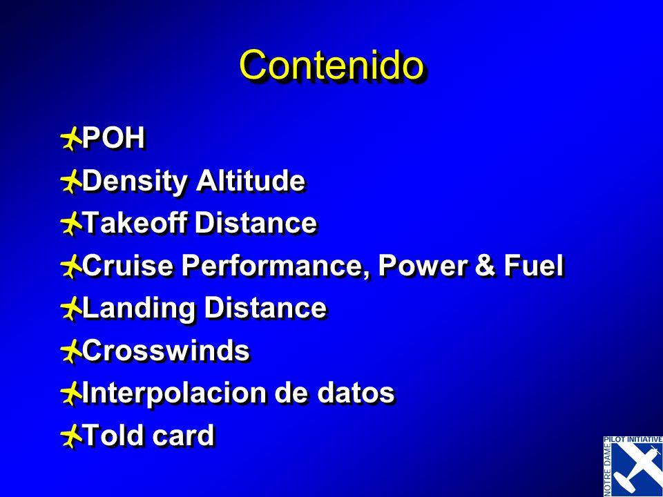 Contenido POH Density Altitude Takeoff Distance
