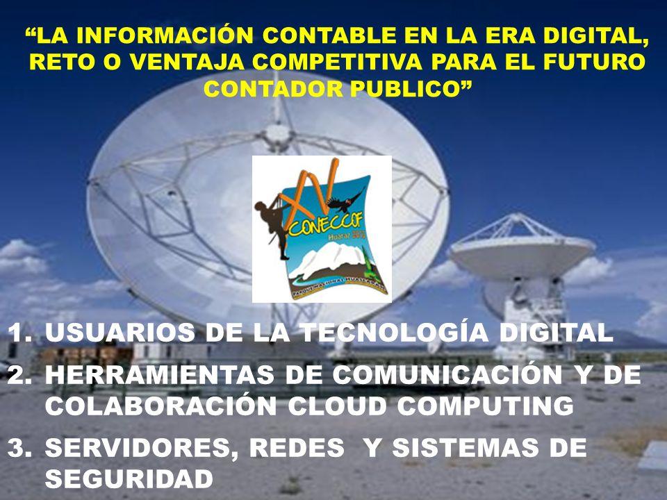 USUARIOS DE LA TECNOLOGÍA DIGITAL