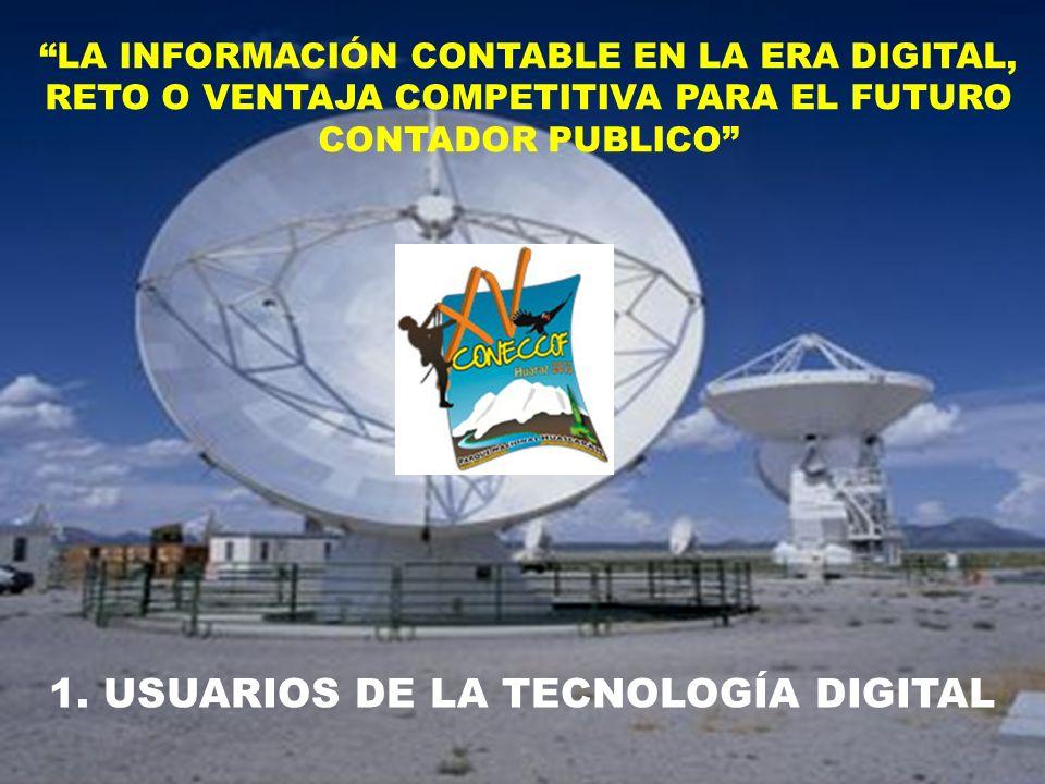 1. USUARIOS DE LA TECNOLOGÍA DIGITAL