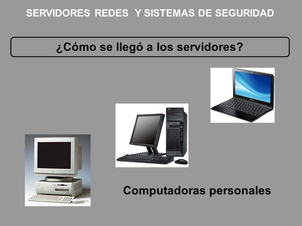 ¿Cómo se llegó a los servidores Computadoras personales