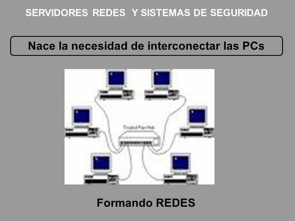 Nace la necesidad de interconectar las PCs