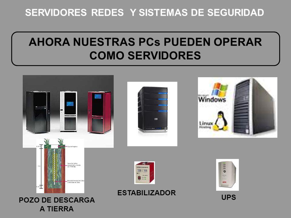 AHORA NUESTRAS PCs PUEDEN OPERAR COMO SERVIDORES