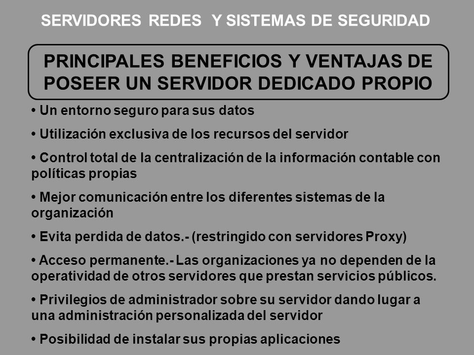 SERVIDORES REDES Y SISTEMAS DE SEGURIDAD