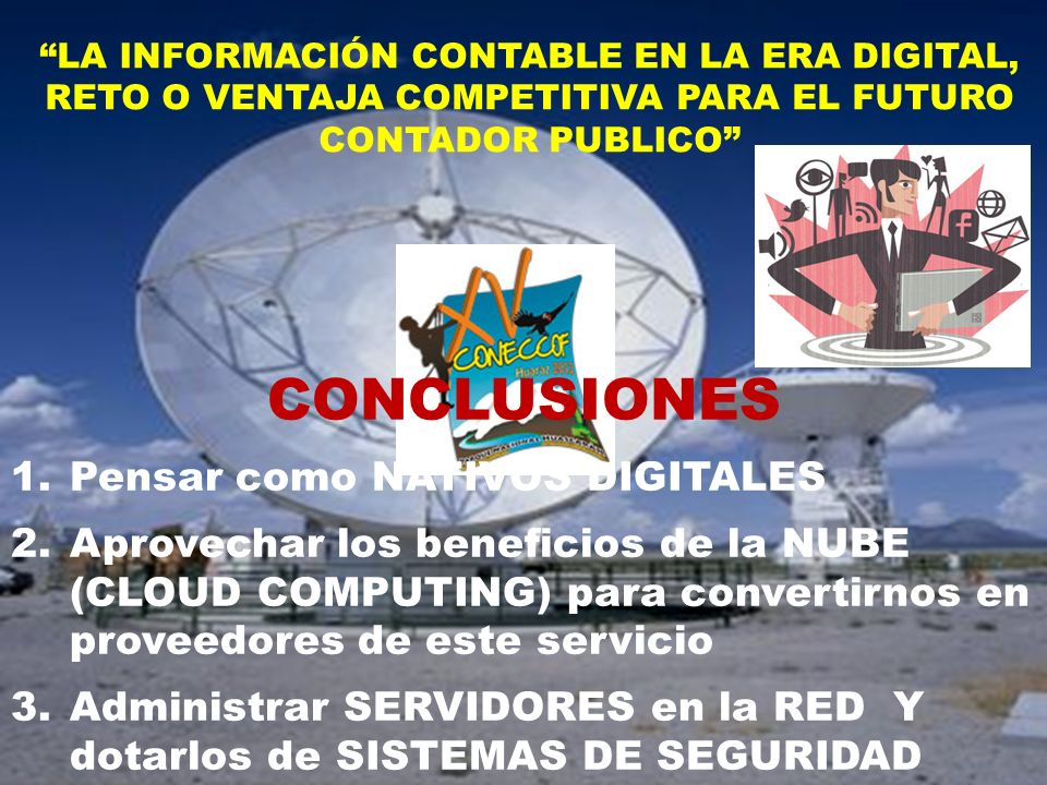 CONCLUSIONES Pensar como NATIVOS DIGITALES