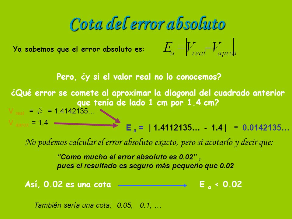 Cota del error absoluto