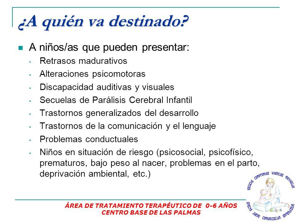 ÁREA DE TRATAMIENTO TERAPÉUTICO DE 0-6 AÑOS CENTRO BASE DE LAS PALMAS
