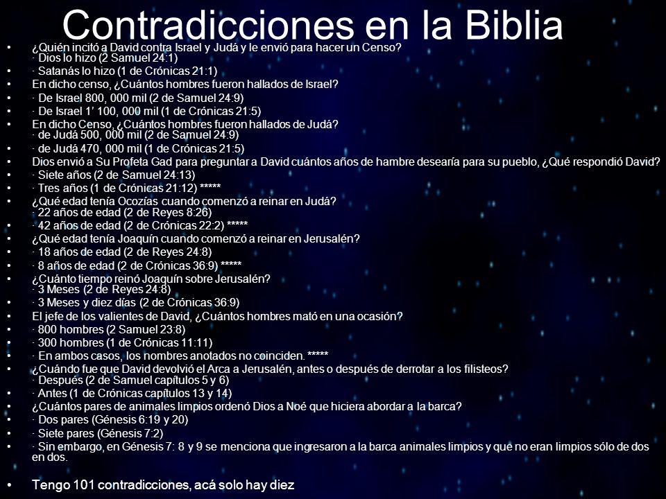 Contradicciones en la Biblia