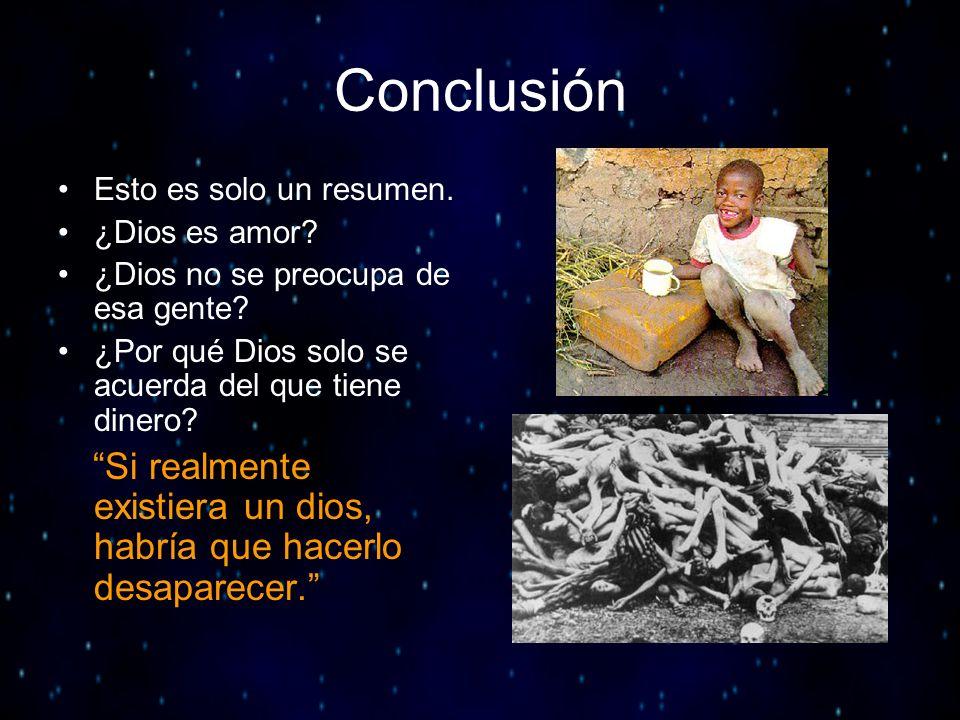 Conclusión Esto es solo un resumen. ¿Dios es amor