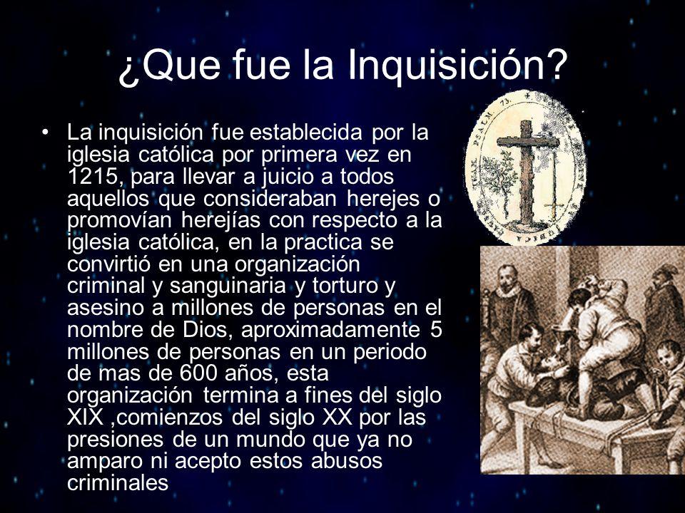 ¿Que fue la Inquisición