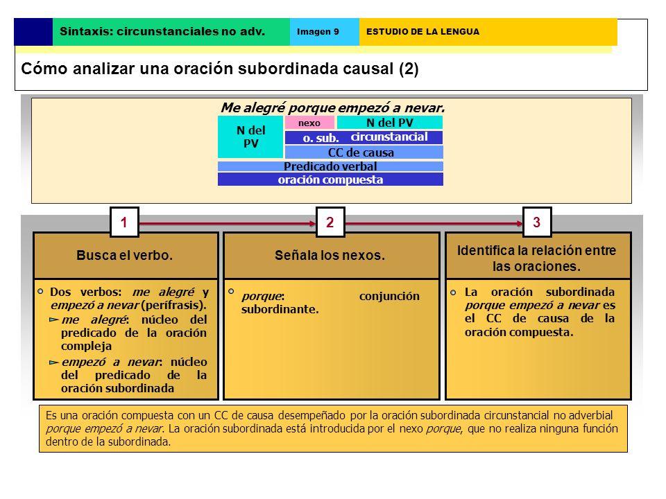 Cómo analizar una oración subordinada causal (2)