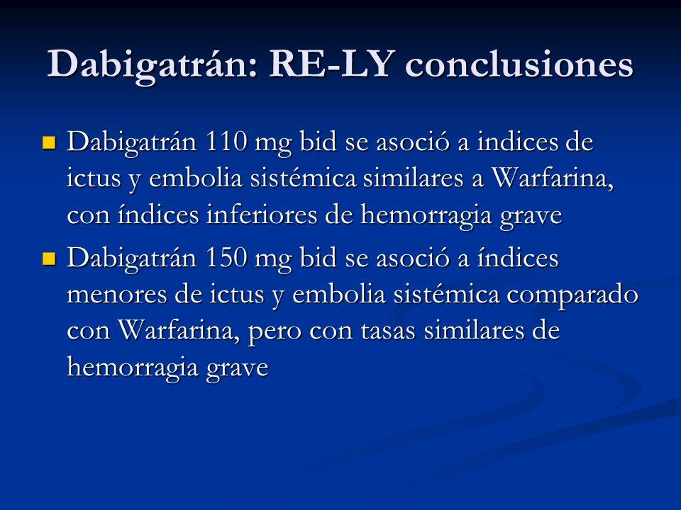Dabigatrán: RE-LY conclusiones