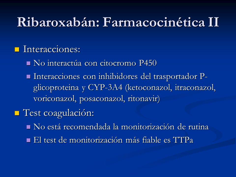 Ribaroxabán: Farmacocinética II