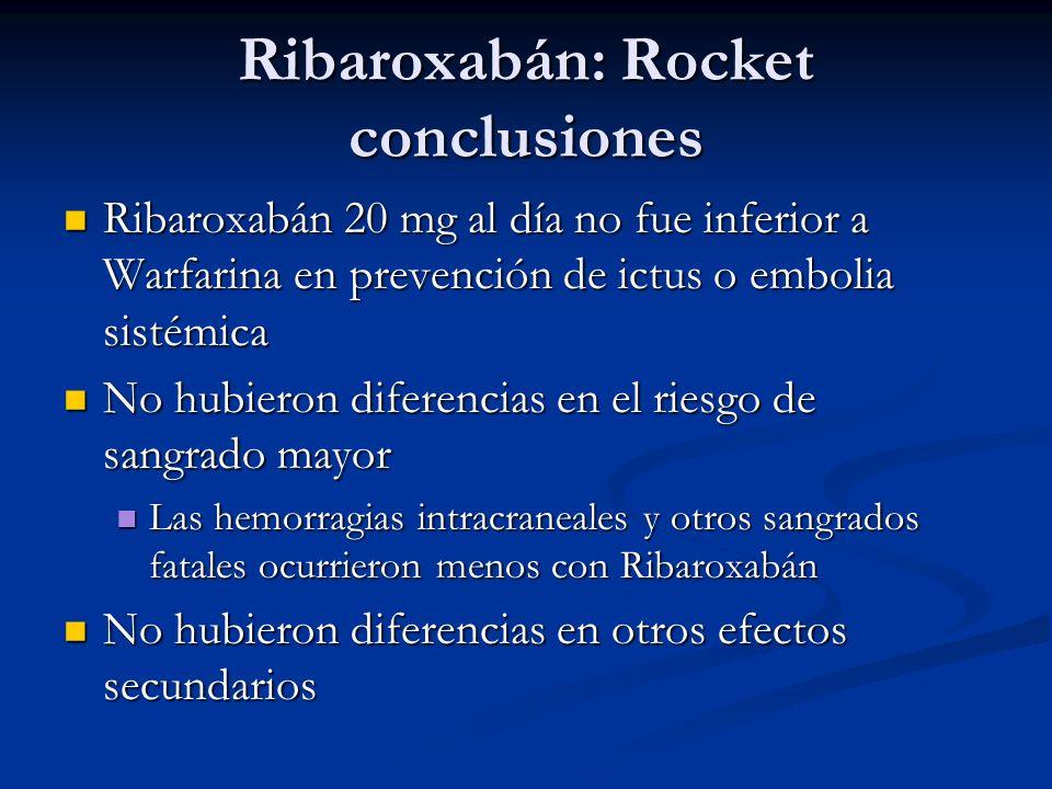 Ribaroxabán: Rocket conclusiones