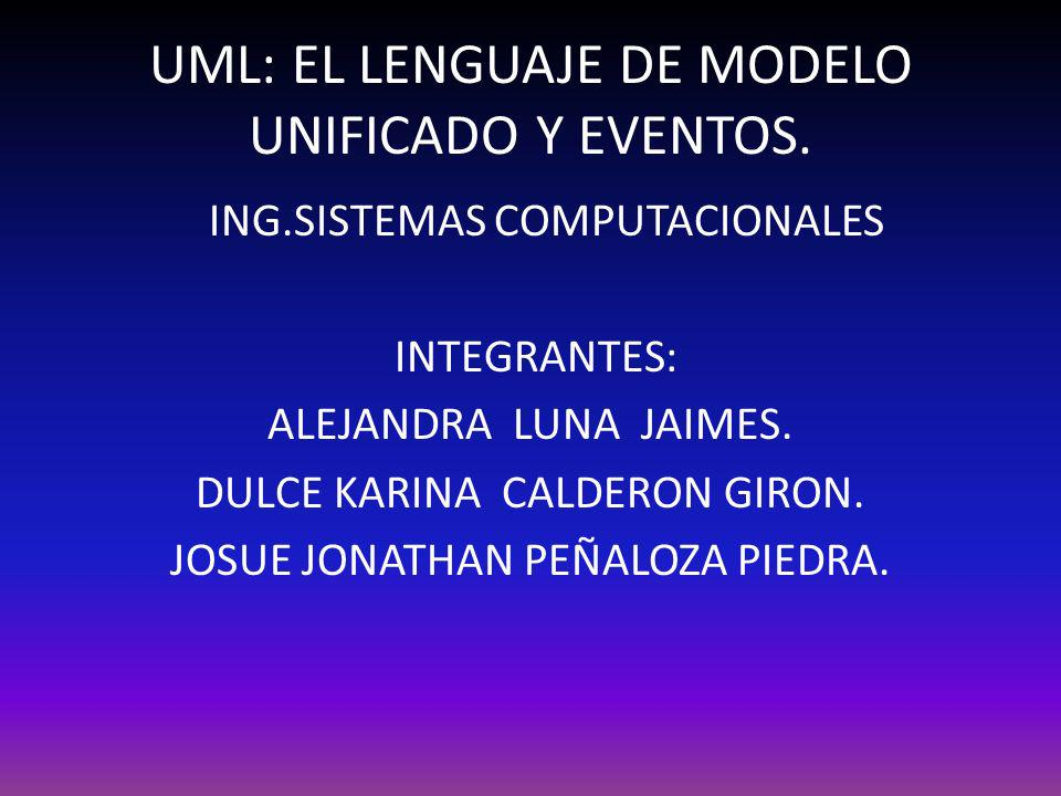 UML: EL LENGUAJE DE MODELO UNIFICADO Y EVENTOS.