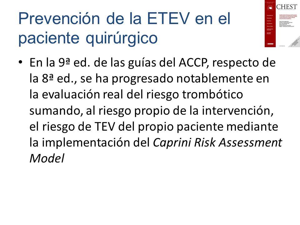 Prevención de la ETEV en el paciente quirúrgico