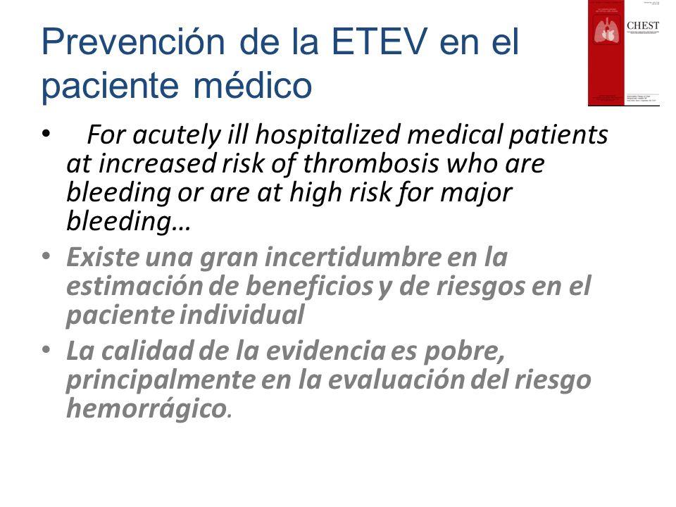 Prevención de la ETEV en el paciente médico