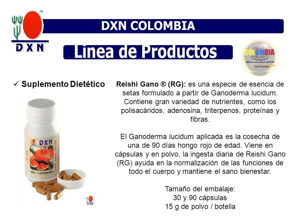 DXN MÉXICO DXN COLOMBIA DXN MÉXICO DXN VENEZUELA Linea de Productos