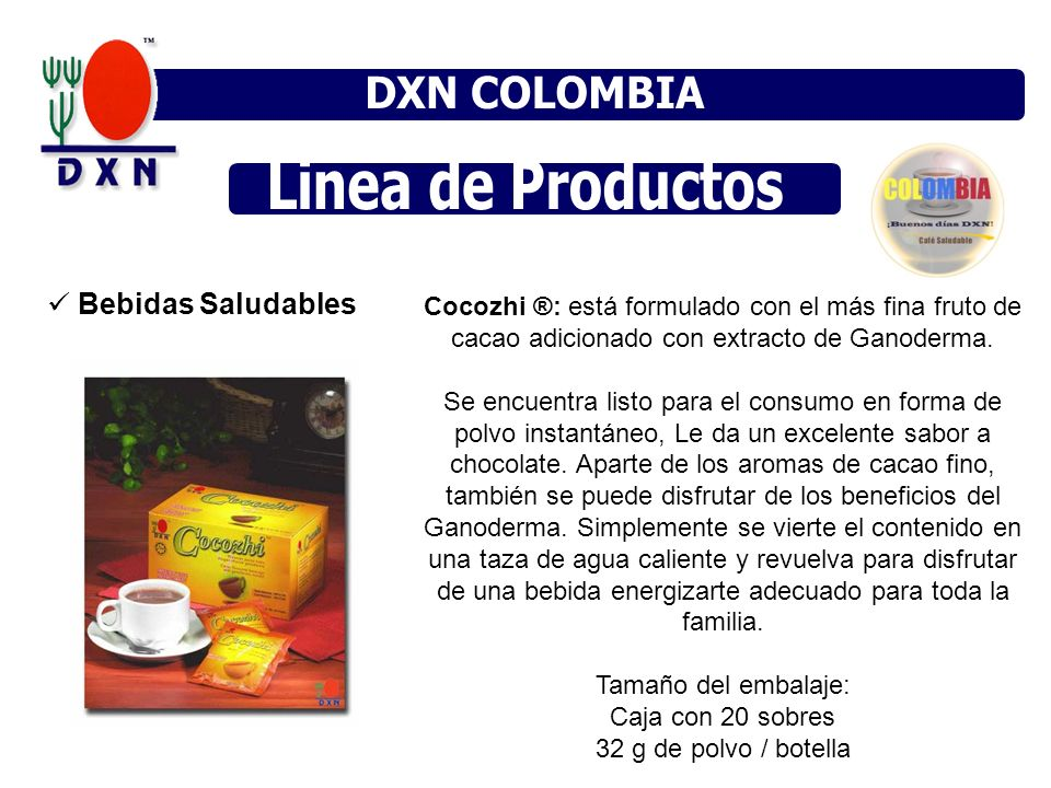 DXN COLOMBIA DXN MÉXICO DXN VENEZUELA Linea de Productos