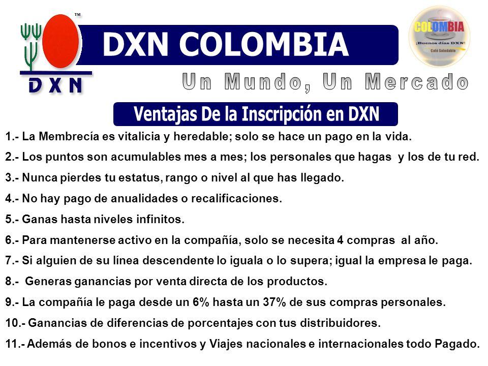 Ventajas De la Inscripción en DXN