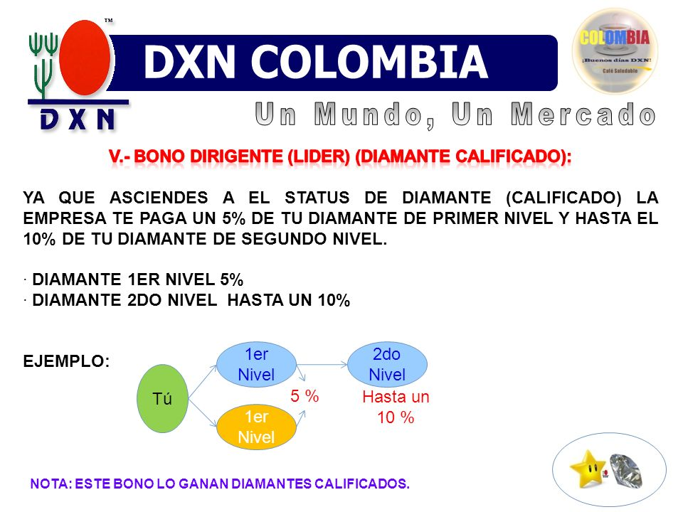 V.- BONO Dirigente (LIDER) (DIAMANTE CALIFICADO):