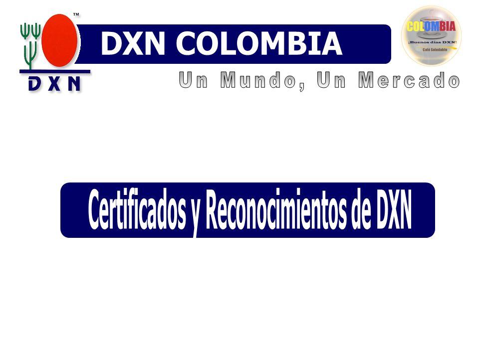 Certificados y Reconocimientos de DXN