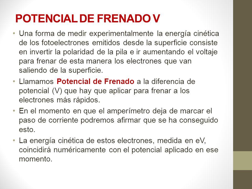 POTENCIAL DE FRENADO V
