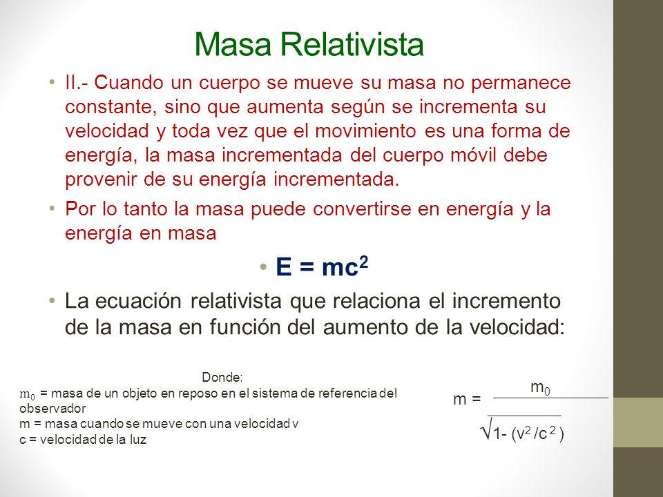 Masa Relativista