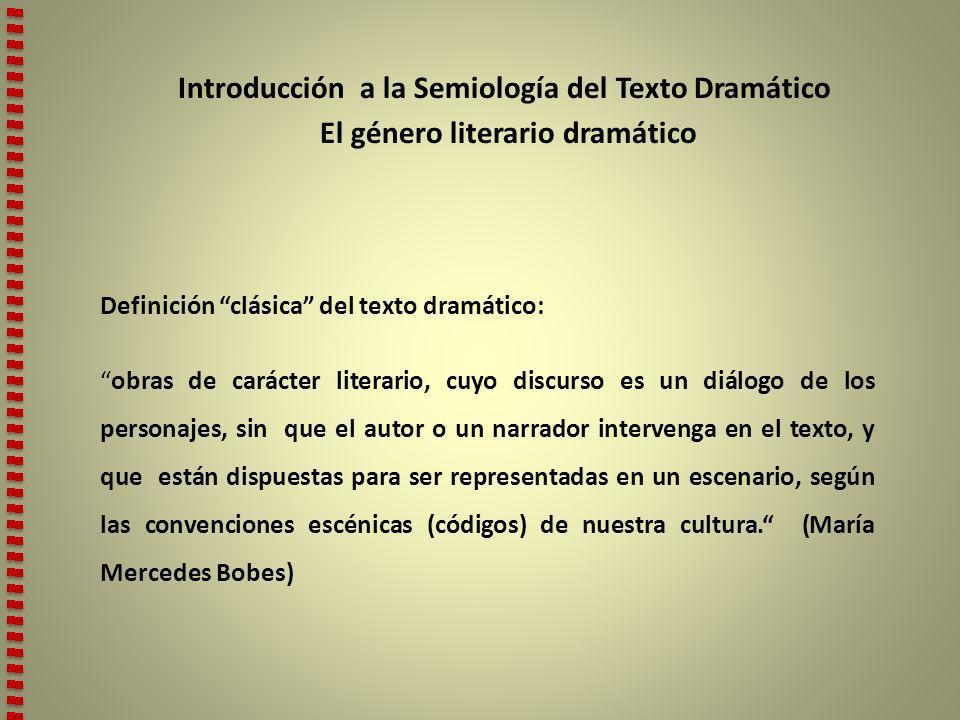 Introducción a la Semiología del Texto Dramático