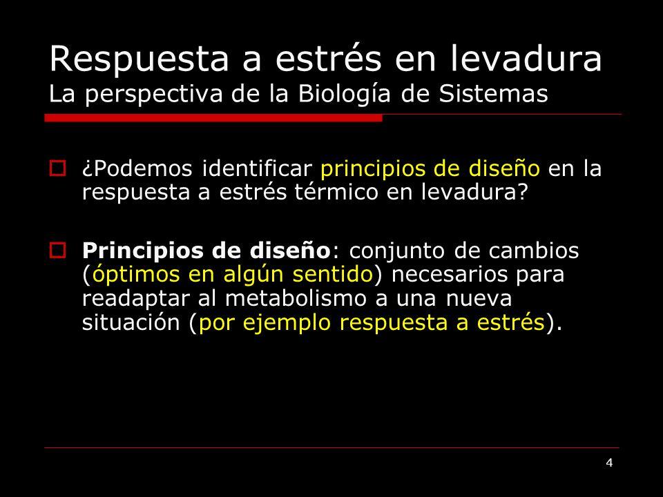 Respuesta a estrés en levadura La perspectiva de la Biología de Sistemas