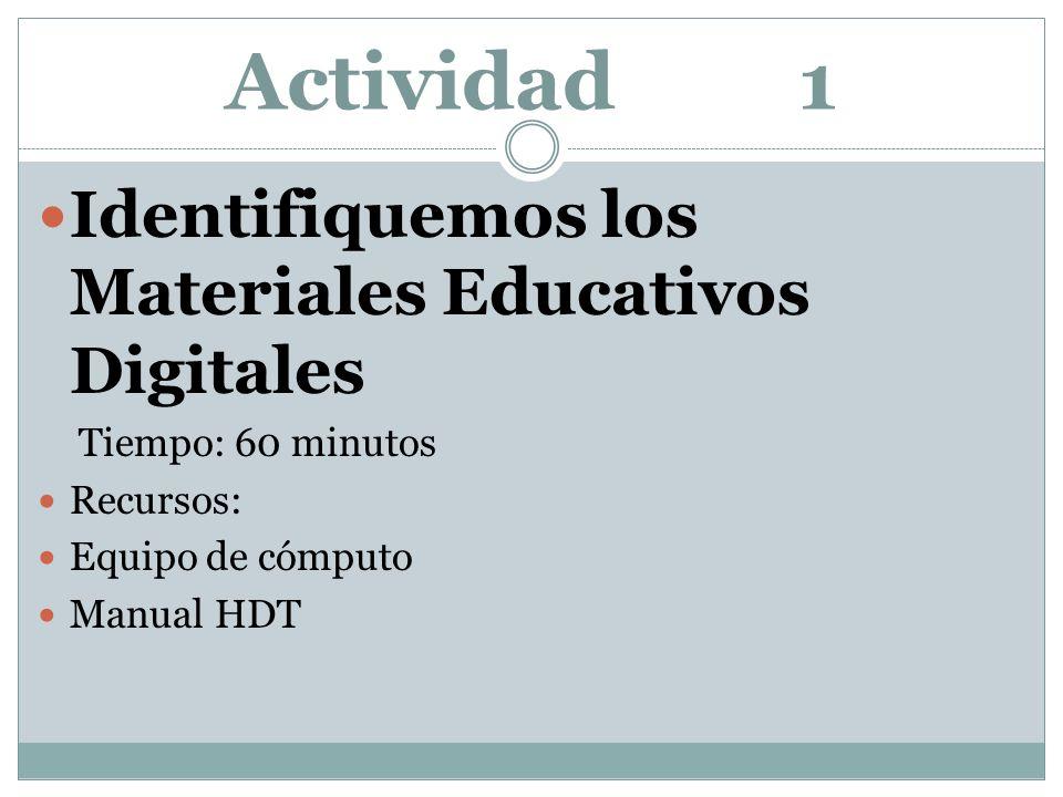 Actividad 1 Identifiquemos los Materiales Educativos Digitales