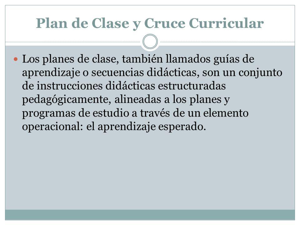 Plan de Clase y Cruce Curricular