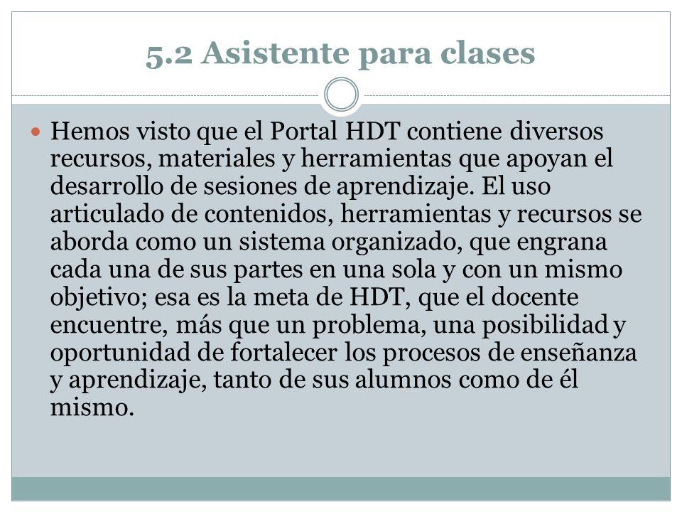 5.2 Asistente para clases