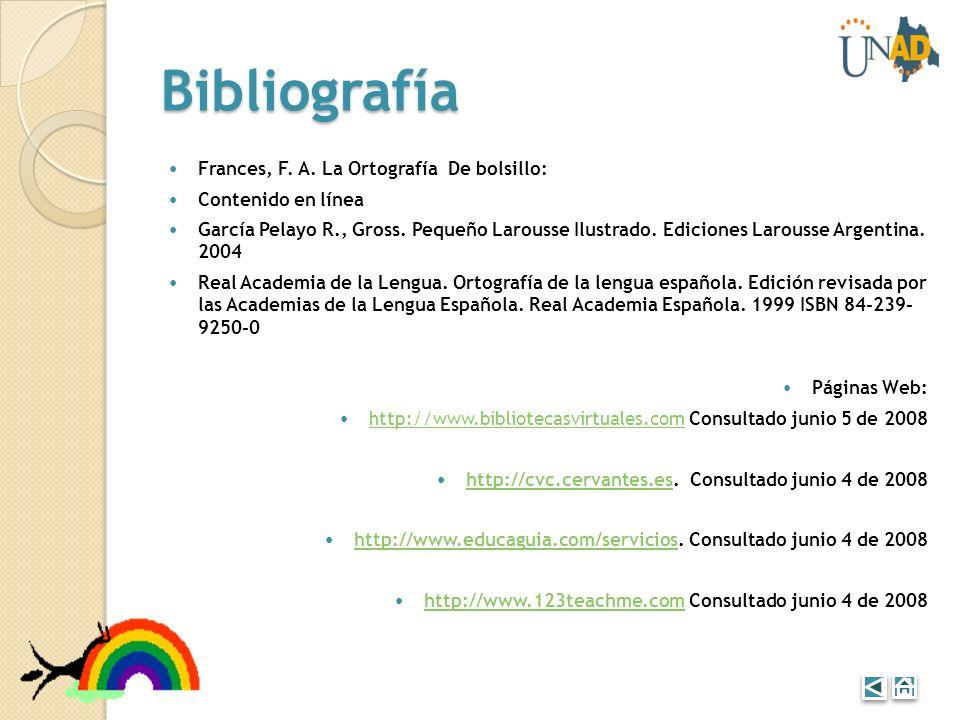 Bibliografía Frances, F. A. La Ortografía De bolsillo:
