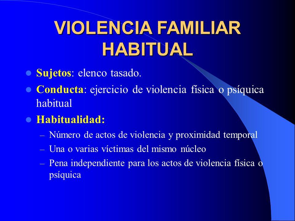 VIOLENCIA FAMILIAR HABITUAL