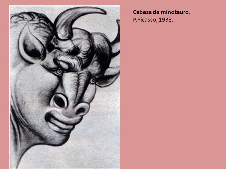 Cabeza de minotauro, P.Picasso, 1933.