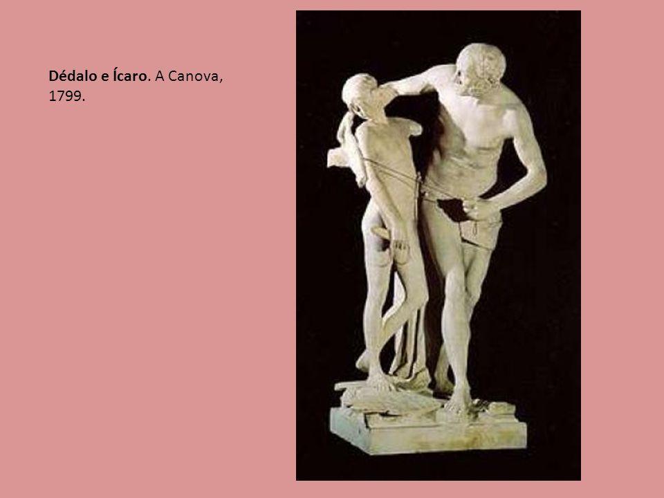 Dédalo e Ícaro. A Canova, 1799.