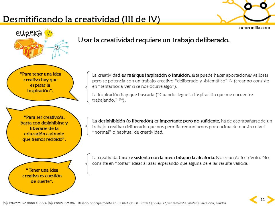 Desmitificando la creatividad (III de IV)