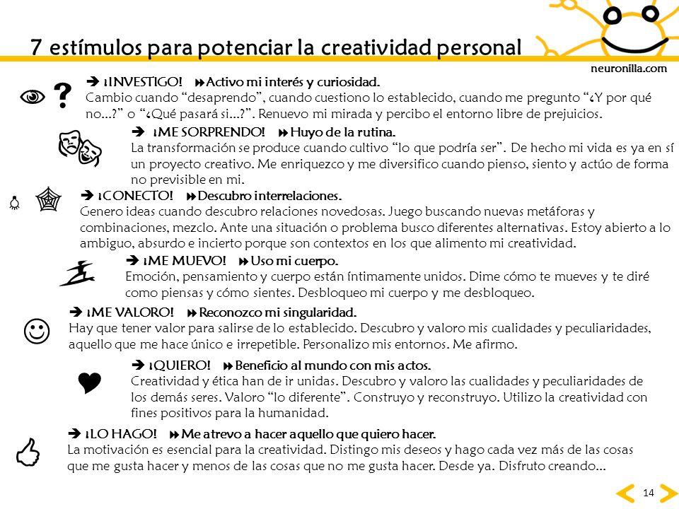 7 estímulos para potenciar la creatividad personal