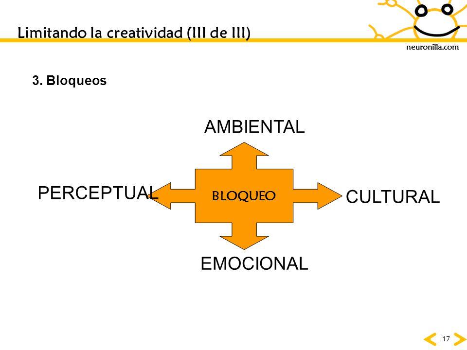 Limitando la creatividad (III de III)